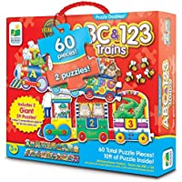 The Learning Journey Puzzle Doubles Giant Abc & 123 Train Floor Puzzles