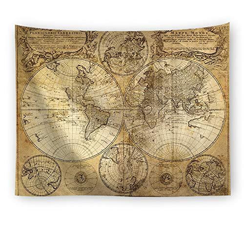 Kevin Bin Vintage Mittelalter Welt Karte Serie Muster Wand hängenden Renaissance gedruckt Wandbild warmen Raumdekor Art Wandteppiche - Renaissance Serie