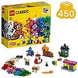 LEGO®-Classic Les fenêtres créatives Jeu Créatif avec des Briques et des Éléments Colorés pour Fille et Garçon 4 Ans et Plus, Jouet de Construction, 450 Pièces 11004