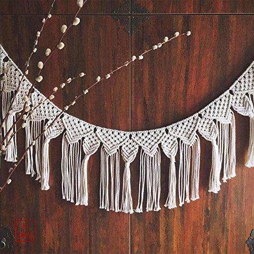 Tapiz hecho a mano puertas y ventanas escribano colgante sala decoración de la pared tapicería de la cuerda-A 100cm(39inch)