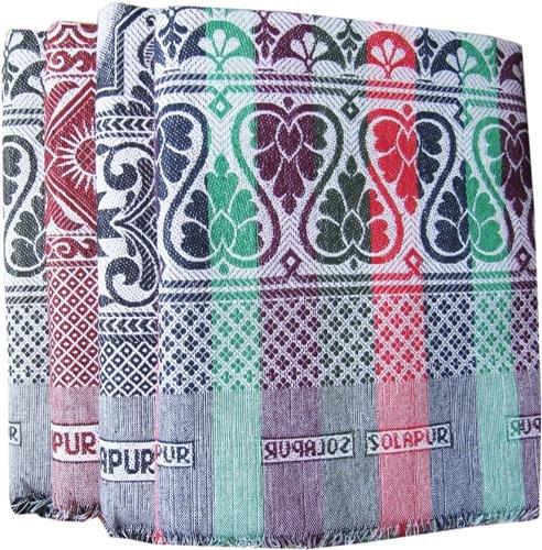 Textilekart Solapur Cotton Blanket (Multicolour, 224x145 cm)
