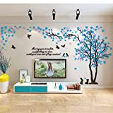Colorfulworld Giant Tree Wandaufkleber Wall Stickers 3D Baum Wandaufkleber Art Home Decals for Room Decoration DIY Wall