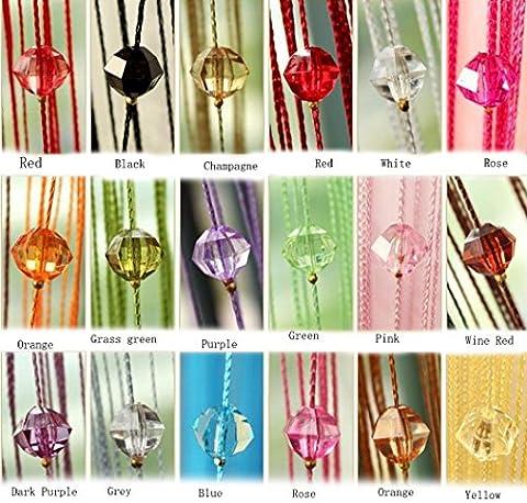 yiyida 1pièce Tassel rideau de perles en cristal perles Fil fil Porte Fenêtre Rideau pour chambre Séparateur 1m x 2m