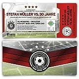 Einladungen (20 Stück) zum Geburtstag Deutschland Fußball Ticket 4 Sterne Einladungskarten