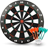 ActionDart Soft Tip Darts And Dart Board Set - Great Games For Kids - Leisure Sport For Office