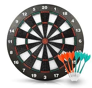 ActionDart - Weich Tipp Sicherheit Dart und Dart Board - Tolle Spiele für Kids - Freizeitsport für Büro (Set)