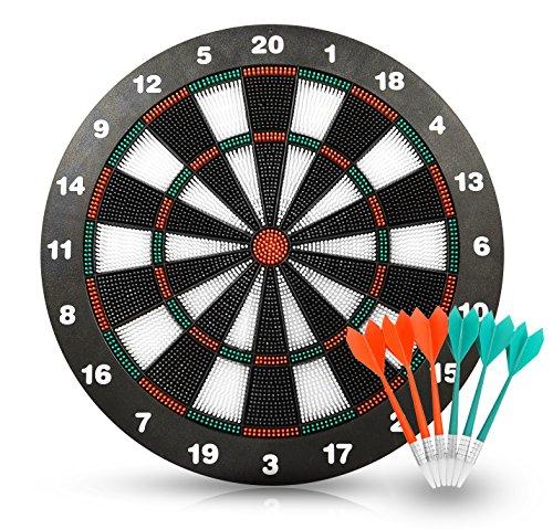 ActionDart Unisex Target 1 Soft Tip Safety Dart Board-Spiele für Kinder, Sport für Büro (Set), 16