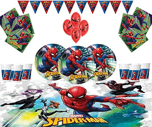 Marvel Spiderman Artículos para Fiestas Kids Birthday Tableware Decoraciones de Spiderman para...