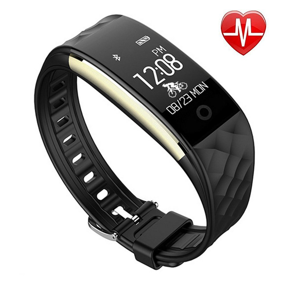 AndThere Fitness Tracker Heart Rate Monitor Wireless Waterproof Smart Bracelet Activity Tracker Pedometer Wristband Sleep Monitor Smart watch Health Monitor Step Counter for Android and iOS