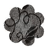 Sharplace 20 pezzi Pasties Cover Capezzolo Del Seno Copricapezzoli Copri Reggiseno Autoadesivo Adesivo di Pizzo per Donna - Nero, Taglia unica