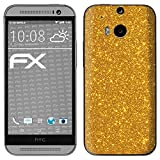 atFolix HTC One M8 / M8s Skin FX-Glitter-Golden-Fleece Designfolie Sticker - Reflektierende Glitzerfolie