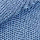 StoffMetropole Grobstrickbündchen gerippt in jeansblau