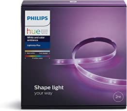 Philips Hue LightStrip+ Basis Set (ohne Bridge), 2m, flexibel erweiterbar, dimmbar, bis zu 16 Millionen Farben, steuerbar via App, kompatibel mit Amazon Alexa (Echo, Echo Dot)
