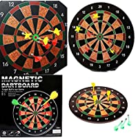 """Buyingzone® 18"""" Official Size Magnetic Dartboard with 6 Darts included Fun Play"""