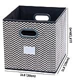 homyfort 2 Stück Faltbare aufbewahrungsbox stoffbox faltbox mit Kunststoffgriff 30 x 30 x 30 cm Grau/Weiß Zickzack XBB02P Vergleich