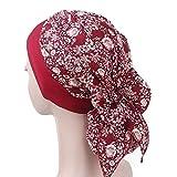 Pluto & Fox Turbante Gorra Pañuelo Para Cabeza De Tela De Mujer Para Cáncer Quimioterapia Chemo Oncológico Noche Pèrdida de Pelo Cabello (Diseño 2, 1)