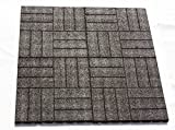 Fallschutzmatten Set 1m² TINA (Stärke 25mm), Granulatmatte, Fallschutzmatte, Bodenmatte, Sportmatte, Farbe: Schwarz