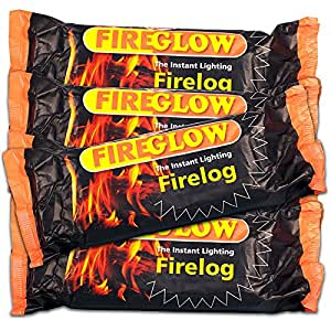 30 x Fireglow The Instant Lighting Firelog Burns for up to 2 Hours