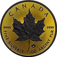 MAPLE LEAF Foglia Acero Gold Shadows 1 Oz Moneta Argento 5$ Canada 2016 Monete (1 Oz Argento Bu Bu Coin)