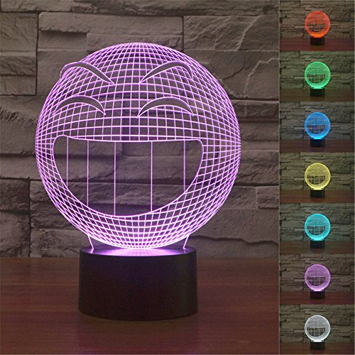 tische Lampen, koreyoshi 7Farben Touch Schalter LED-Nachtlicht Schlafzimmer Schreibtisch Tisch Lampe mit USB-Ladegerät (Halloween-füße-kunst)