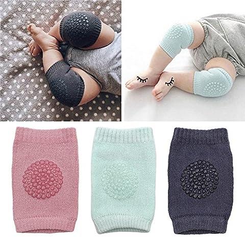 3 PCS Coque pour bébé Baby Genou Coudières Genouillères Rampants de Sécurité Protection