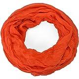 Krinkle Loop, sciarpa effetto stropicciato, in tinta unita, ideale per primavera, estate e autunno, 70 x 180 cm