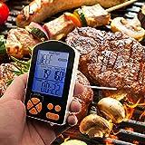 paracity BBQ Digital Thermometer Fleisch Lebensmittel Thermometer eingebauten Timer mit Dual Edelstahl Sonde für BBQ/Kochen/Grillen/Backen