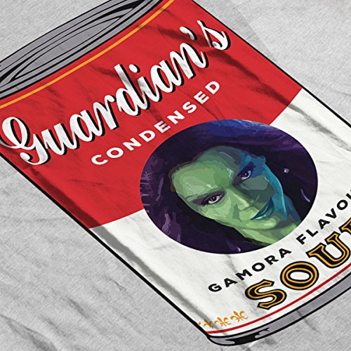 Guardians Of The Galaxy Gamora Soup Warhol Men's T-Shirt Heather Grey