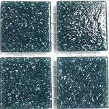 Mosaikteilchen Aus Glas, 20 mm, Grey, Petrol