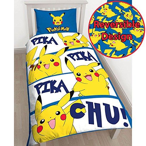 Pokémon Pikachu Einzelnen Bettbezug und Kopfkissenbezug Set