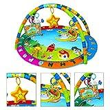 Glücklich Engel Baby Krabbeldecke Spielböge Baby Erlebnisdecke Spieldecke Baby Spieldecke mit Spielbogen mit Musik 0-12 Monate ca. 98 x 86 x 50 cm