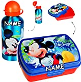 alles-meine GmbH 2 tlg. Set _ Lunchbox / Brotdose + Trinkflasche -  Disney - Mickey Mouse  - ..
