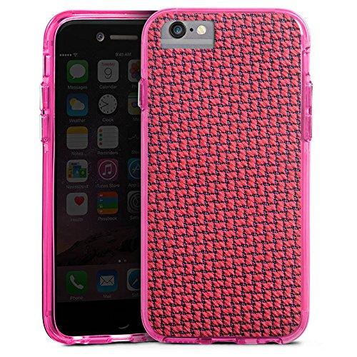 Apple iPhone 8 Bumper Hülle Bumper Case Glitzer Hülle Muster Pattern Kacheln Bumper Case transparent pink