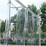 GDMING transparant PVC dekzeil waterdicht zwaar weerbestendig buiten duidelijk waterdicht gordijn met grommet tuin meubelhoez