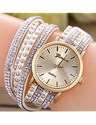 Tableau d'accessoires pour femmes Bracelet en rivet en cuir Table Bracelet en alliage métallique décontracté Tableau 5 Couleurs