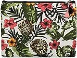 styleBREAKER Handtaschen Organizer Tropic mit Ananas, Blumen, Blüten und Palmen Aufdruck, Clutch, Kosmetiktasche, Tasche, Damen 02013010, Farbe:Mehrfarbig