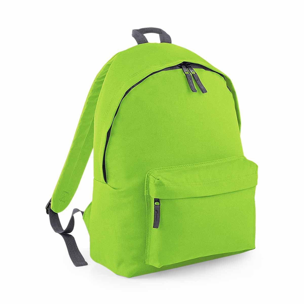 618z8UXZNCL - Bag Base–Mochila junior Fashion escuela Loisirs–BG125J–verde citron- 14L–niño
