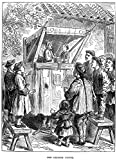 Punch And Judy. /Na Chinese 'Punch And Judy' Show. Wood Engraving, English, 1873. Poster Print by (24 x 36)