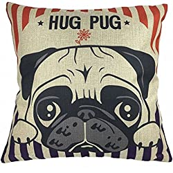 "Manta funda de almohada, onker algodón lino cuadrado manta decorativa Funda de almohada Funda para cojín 18""x 18"" lovely Hug diseño de CARLINO"