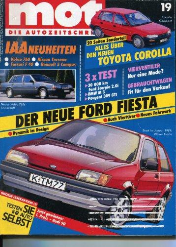 "\""MOT - Die Autozeitschrift\"", Heft 19/1987, Tests: Peugeot 309 GTi - Pontiac Bonneville - BMW M3 KAT - 30 000 km Ford Scorpio 2.0i - Fiat Ducato Panorama TD - Spezial: Messerschmidt Kabinenroller - Wartung + Technik: VW Passat 1.8"