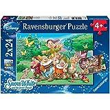 Puzzle 24 pièces - 2 Puzzles - Blanche Neige et les 7 Nains