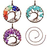 Best Lauhonmin Gifts For A Men - Lauhonmin 3pcs Tree of life Pendant Crystal Necklace Review