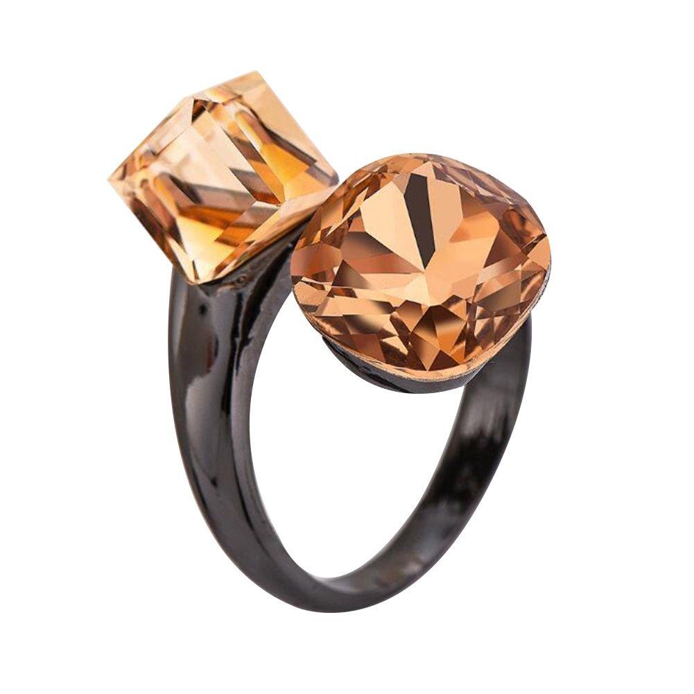 sito affidabile bb5fb 2419a Impression 1 pcs Anelli Anello di pietre preziose oro nero anello di  diamanti di moda anello di vetro Girl Accessori della gioielli festa di San  ...