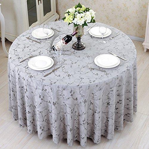 unde Tischdecke Tischdecke-Größe wählbar Graue Pflaume Hotel Tischdecke Tischdecke Runde Tischdecke tischwäsche (größe : 300cm) ()