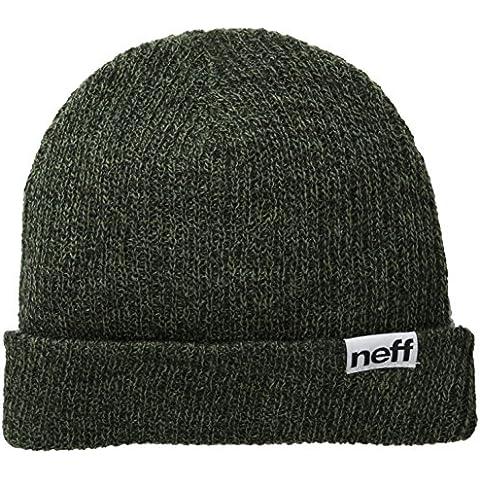 Neff berretto Fold Heather, Unisex, Mütze Fold Heather, Black/Olive, Taglia unica