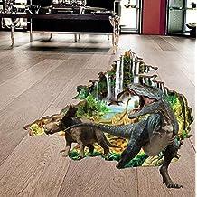Adhesivo decorativo para pared, chshe 3d realista jungla dinosaurio arte vinilo pared adhesivos pegatinas decoración para el hogar para salón o dormitorio habitación de un niño TV fondo pared