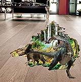 CHshe Dinosaurier Wandtattoo, realistischer 3D-Druck Jungle und Dinosaurier, Vinyl-Aufkleber Aufkleber, Dekoration für Wohnzimmer Schlafzimmer Kinderzimmer, die Wand hinter dem Fernseher