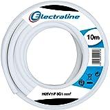 Electraline 11721, Cable para Extensiones H05VV-F, Sección 3G1 mm, 10 m, Blanco