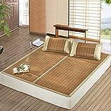 Klimatisierte Matte Doppelseitige Verfügbar Natürliche Bambus Teppich Faltbare Studentenwohnheim Glatte Matte Sommer Schlafmatte 1,2 M 2-teilig