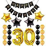 Zantec Luftballons Happy Birthday 30. Geburtstag Digital Aluminium-Folie Ballon Kostüm für der Noce Geburtstagskarte, Buchstaben D 'Or 30